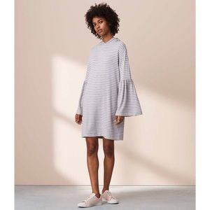 Striped Hoodie Dress